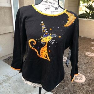 Large Berek Halloween Cat Sweater
